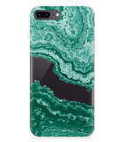 iPhone 8 Plus Hoesje Turquoise Marble Art